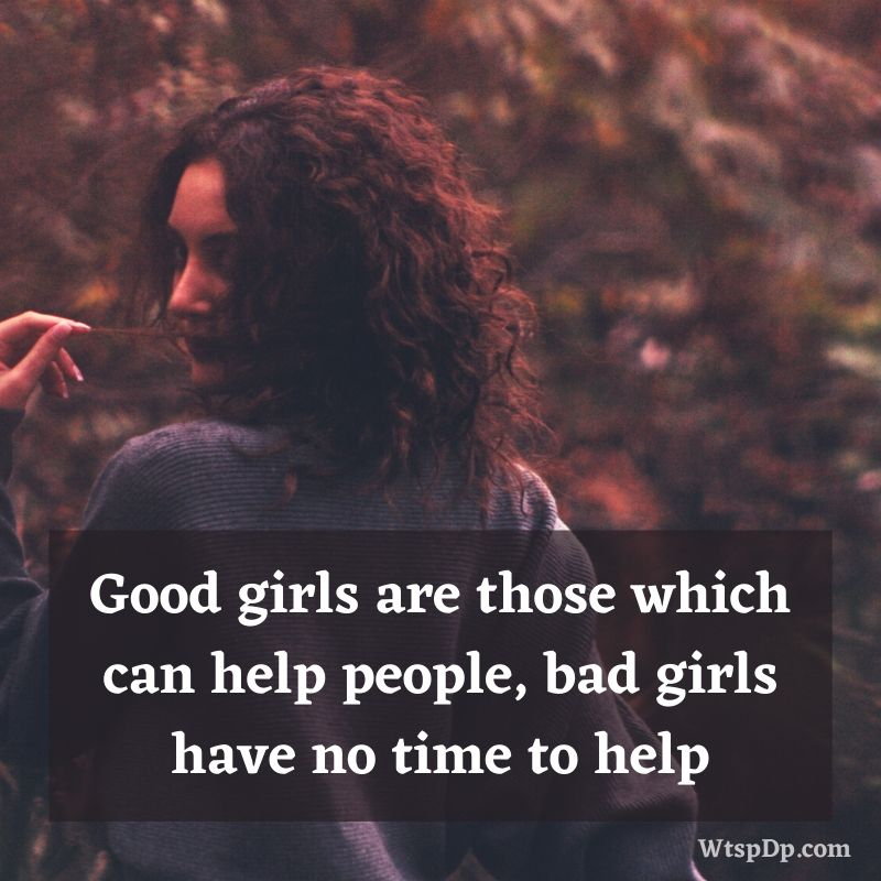 Good girl attitude status quotes images download for whatsapp dp