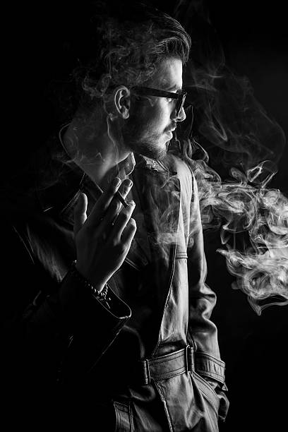 Brackup boy smoking in darkness image for whatsapp profile picture