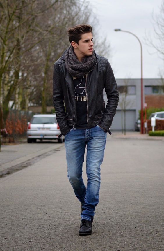 Cool stylish men's winter fashion pictures