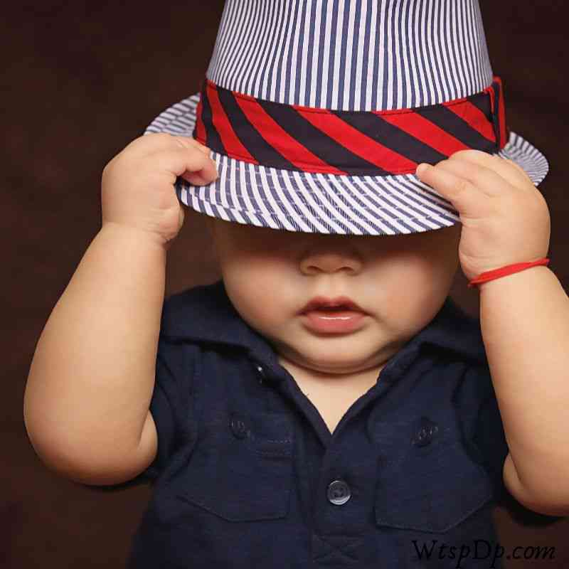 Cute baby boy with hat image for whatsapp