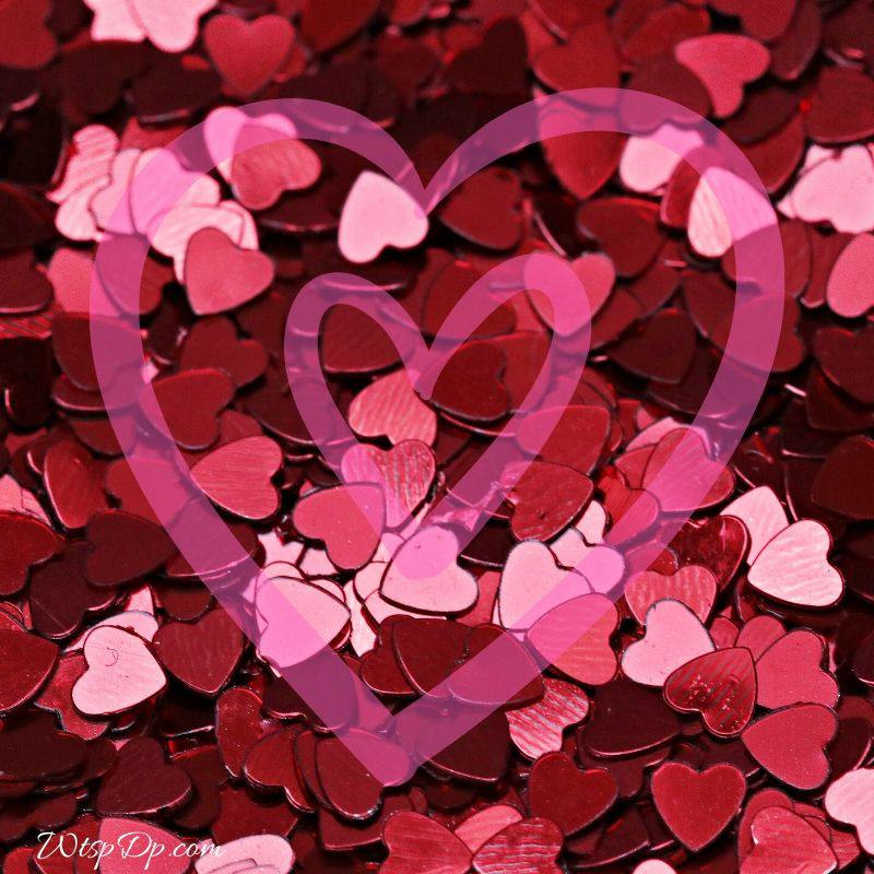 Pink heart image for whatsapp dp