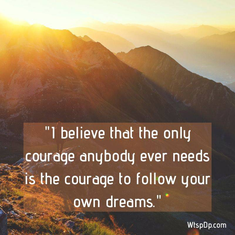 Believe and courage whatsapp dp image
