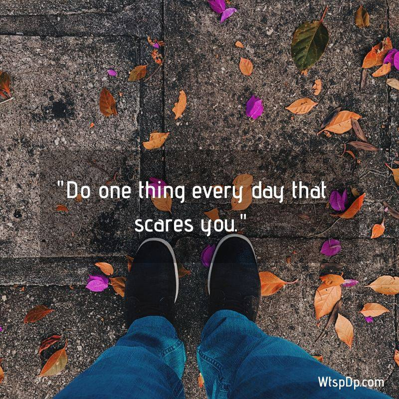 Do one thing every day whatsapp dp image