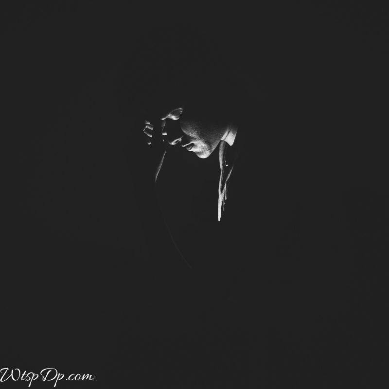 The lonely boy in dark background image for whatsapp dp
