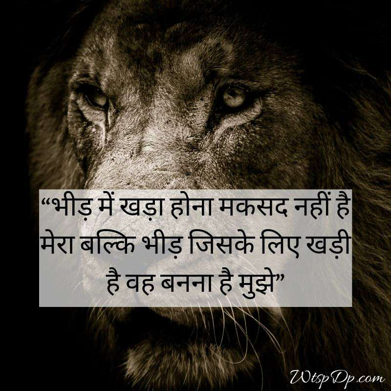 Lion attitude whatsapp dp in hindi