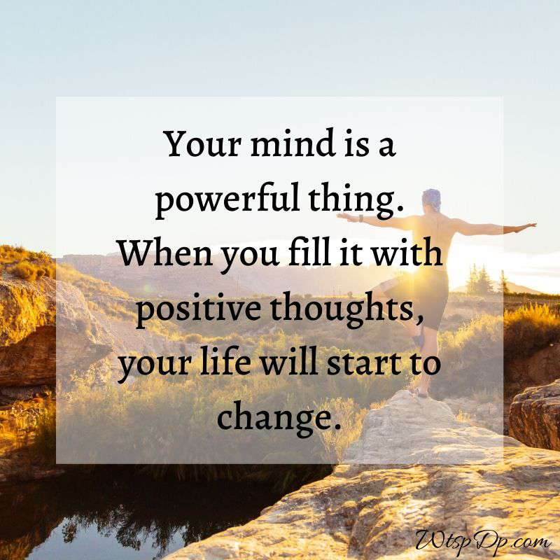 The mind is a powerful thing