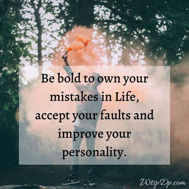 Mistakes in life whatsapp dp image
